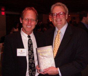"Len with Tony Horwitz - the author of Midnight Rising"" at the National Press Club"