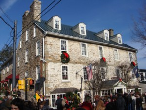 The historic Red Fox Inn (and restaurant) all dressed up for the holidays ...