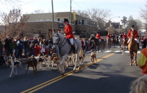 "The first event of the festive day in downtown Middleburg was ""The Hunt"" parade at 11:00 a.m."
