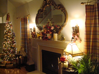 Photo of the Christmas tree and fireplace in my living room 2011